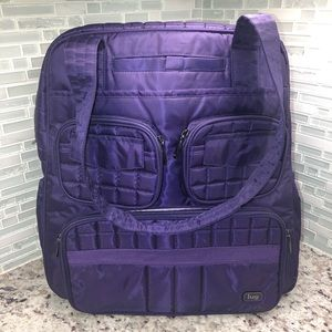 Lug Puddle Jumper Overnight Gym Bag In Purple Read